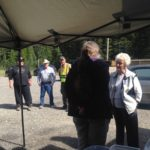 PRRD Area B Director Goodings speaks with residents at the Pink Mountain Open House.