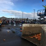 Pumpkins are Flying at the 2016 Pumpkin Plunge in FSJ. This pRRRdy program is a gourd-geous reminder of the potential of composting. Once landfill bound, these pumpkins will breakdown and be used to naturally supplement soil around the community.