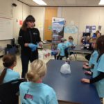 Hands on water experiments at the 2016 SD 59 Science Fair. NEAT worked with the City of Dawson Creek's Watershed Coordinator to offer an interactive session for SD59 students participating in the annual science fair.