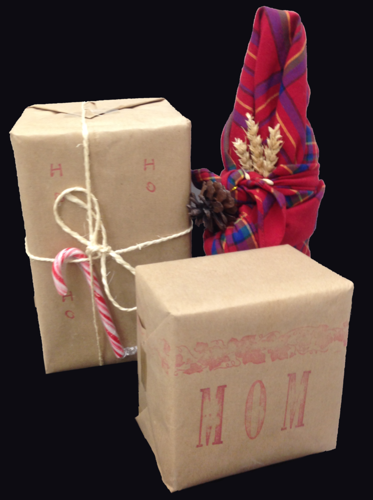 Just because gift wrap is typically not recyclable, there are other beautiful ways to wrap that gift.